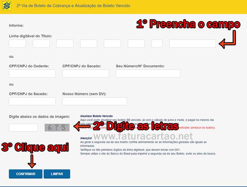 Atualizar Boleto Bb Banco Do Brasil Vencido Tutorial